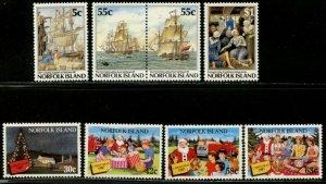 NORFOLK IS. Sc#417-20 ,422-25 ,437-39 ,440-43 1987-88 Four Cpl Sets OG Mint NH