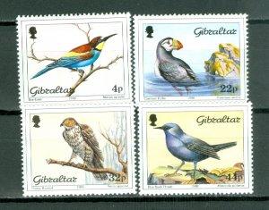 GIBRALTAR BIRDS #532-535...SET...MNH...$10.25