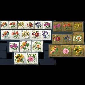 BURUNDI 1966 - Scott# 141-56+C Flowers Set of 25 LH