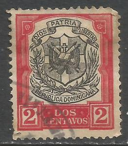 DOMINICAN REPUBLIC 180 VFU ARMS N618-7