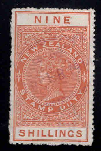 New Zealand Scott AR11 Used Postal-Fiscal stamp 1882