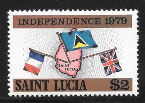 St Lucia Mint Never Hinged [4173]