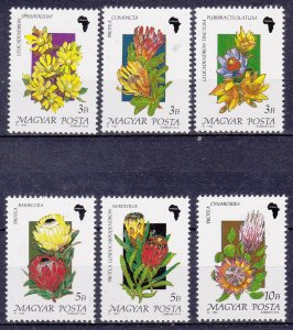 Hungary MNH 3230-5 African Flowers 1990 SCV 3.85