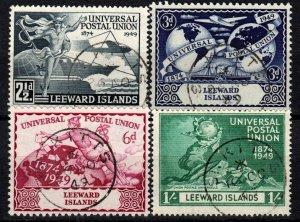 Leeward Islands #126-9   F-VF Used CV $9.60  (X1328)