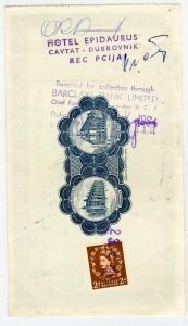 Great Britain Stamps Cancelled Travelers Check Used as Revenue 1964