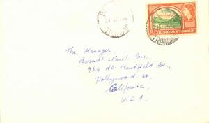 Trinidad 8c QEII Queen's Park, Savannah 1955 Belmont, Trinidad to Hollywood, ...