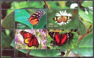 Malawi 2010 Butterflies (2) MNH Cinderella !