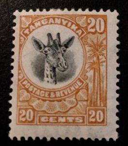 Tanganyika Scott 15 Giraffe Definitive 20 Cent-LH
