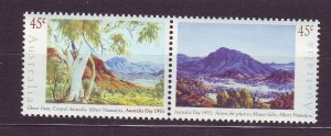J23761 JLstamps 1993 australia set pair mnh #1306 paintings