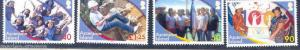 ASCENSION ISLAND GIRL GUIDING CENTENNIAL 100TH ANNIVERSARY SET OF FOUR
