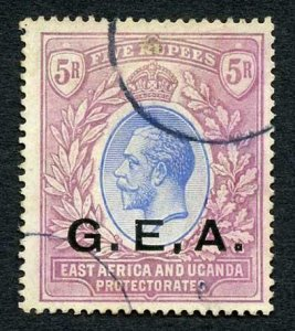 Tanganyika SG59 5r Blue and dull purple  Cat 150 pounds