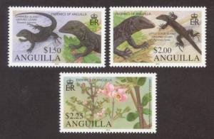 Anguilla Sc# 1188-90 MNH Endemic Flora & Fauna