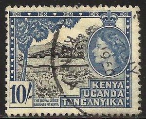 Kenya, Uganda & Tanzania 1954 Scott# 116 Used