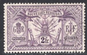 NEW HEBRIDES-FRENCH SCOTT 20