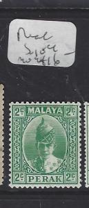 MALAYA PERAK   (P1409B)   SULTAN 2C  SG 104   MOG