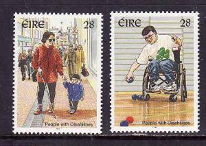 Ireland-Sc#1022-3-unused NH set-People with Disabilities-1996-