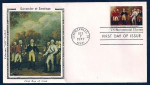 UNITED STATES FDC 13¢ Surrender at Saratoga 1977 Colorano