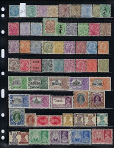 INDIA /CONVENTION STATES- 183 STAMPS- ALL MINT MINT HINGED/LIGHT HINGED