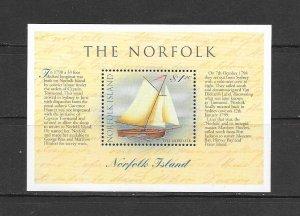 SHIPS - NORFOLK ISLAND #664  THE NORFOLK  MNH