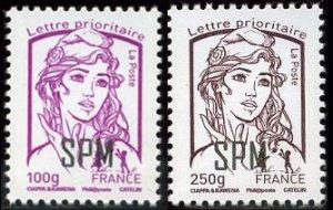 Scott #986-7 Marianne Overprints MNH