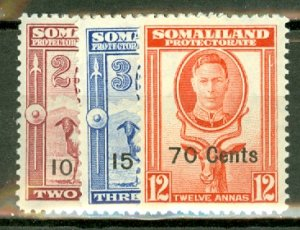 B: Somaliland 116-26 mint cV $56; scan shows only a few