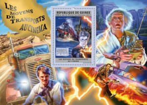 GUINEA 2011 SHEET TRANSPORTS IN CINEMA HARRY POTTER BACK TO THE FUTURE gu11717b