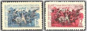 Vietnam 1965 MNH Stamps Scott 366-367 Soldiers August Revolution