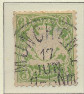 Bavaria (German State) Stamp Scott #38, Used - Free U.S. Shipping, Free World...