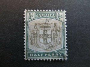A4P21F6 Jamaica 1903-04 Wmk Crown CA 1/2d used