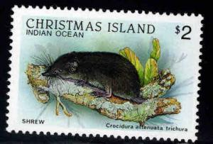 Christmas Island Scott 210 MNH** Shrew stamp
