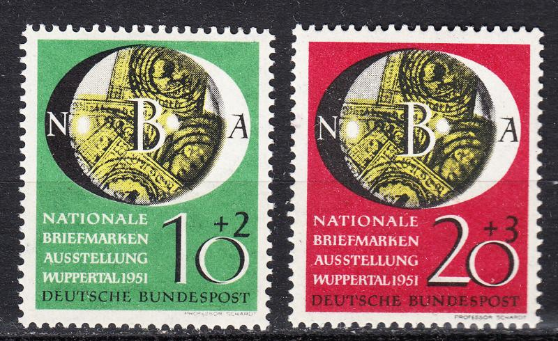 Germany - 1951 Philatelic Exposition Sc# B318/B319 - MLH