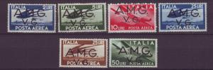 J21630 Jlstamps 1946-7 italy part of set mh #ilnc2-7 AMG ovpt,s