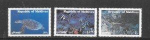 MARINE LIFE - MALDIVES #897-99   MNH