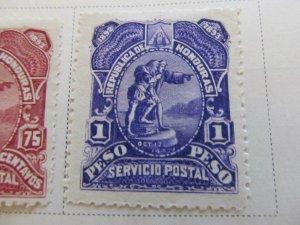 Honduras 1892 1p fine mh* stamp A11P11F17