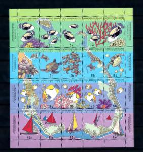 [48393] Cocos Keeling Islands 1994 Marine life Fish Sail boats MNH Sheet