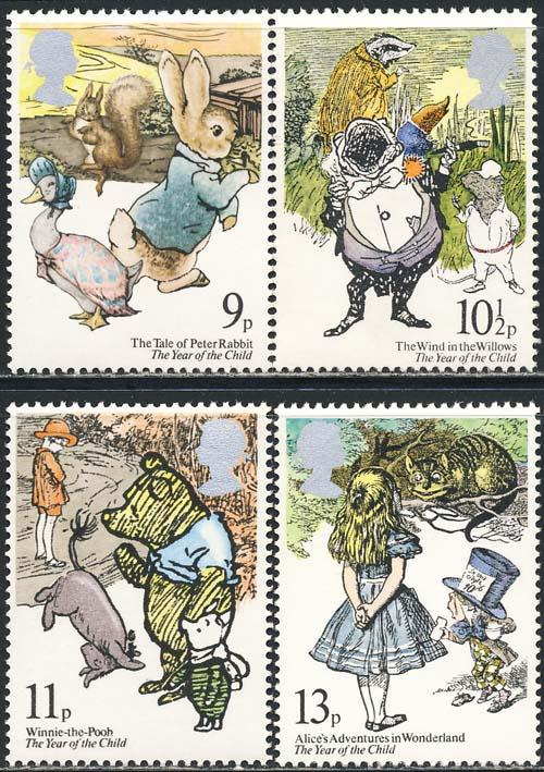 Great Britain 1979 Sc 867-70 Child Year Cartoons Stamp MNH