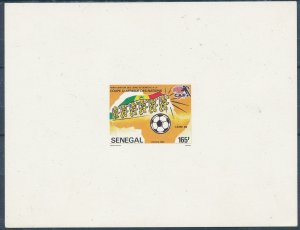 SENEGAL 1986 SOCCER PROOF UN PERFORATED MNH