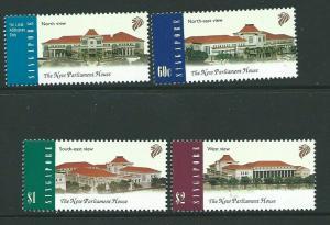 SINGAPORE SG1010/13 1999 NEW PARLIAMENT HOUSE MNH