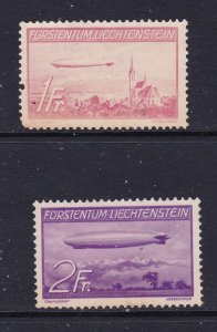 Liechtenstein the 1936 Zeppelin pair MNG