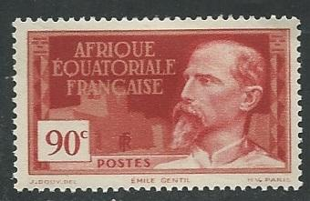 French Equatorial Africa  + Scott # 55 - MH