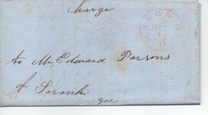 Georgia Stampless Cover, Macon Dec 17, 1849 Long Letter - Contents