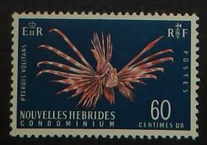 New Hebrides (Fr.) 119A. 1967 60c Turkeyfish, NH