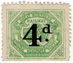 (I.B) Great Northern Railway : Prepaid Newspaper Parcel 4d