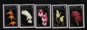 Jersey Sc 626-30 1993 Orchids stamp set used