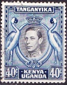 KENYA UGANDA TANGANYIKA 1952 KGVI 40c Black & Blue SG143 FU