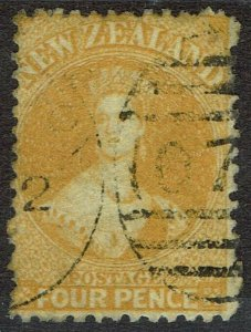 NEW ZEALAND 1864 QV CHALON 4D USED