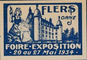 Stamp Label France Exposition 1934 Flers Orne Foire Cinderella MNH