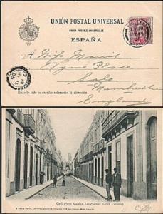 SIERRA LEONE 1905 postcard - EVII 1d cancelled PAQUEBOT PLYMOUTH cds.......77285