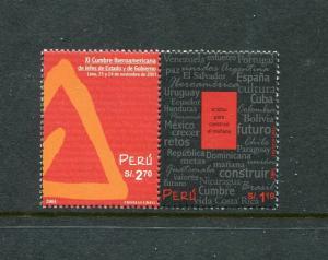 Peru 1304a-b, MNH, 9th Iberoamerican summit of heads of state 2002. X29510