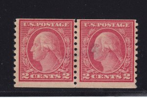 491 Pair Rare F-VF OG PSE cert , lightly hinged nice color cv $ 6500 ! see pic !